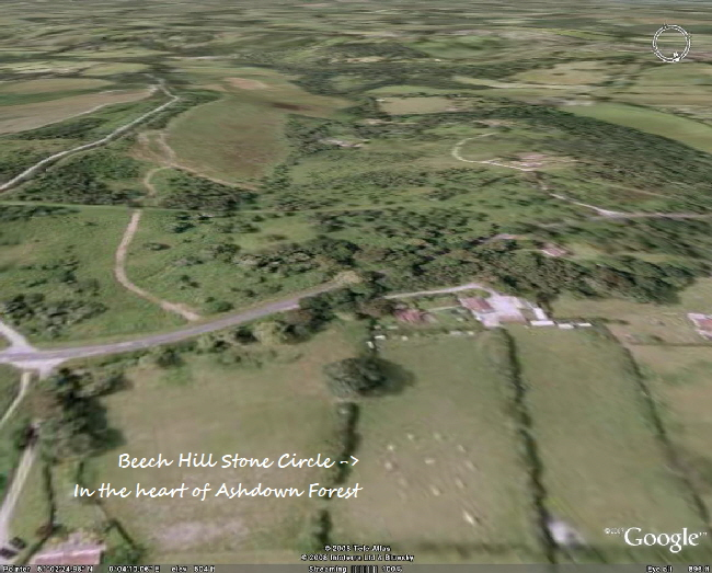 Beech Hill Stone circle from the air
