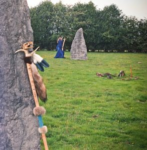 Jewels does a preparation ritual at the stones